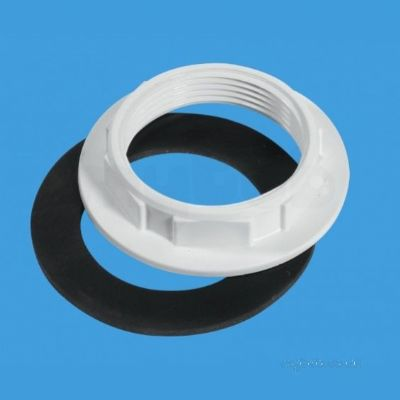 McAlpine 1.1/2 inch BSP Backnut and Washer - 39000074